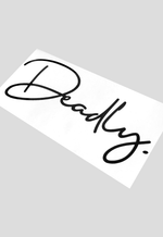 DEADLY. Signature Sticker - Small 20cm