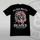 DEADLY. Wolf T-shirt traditional rear print