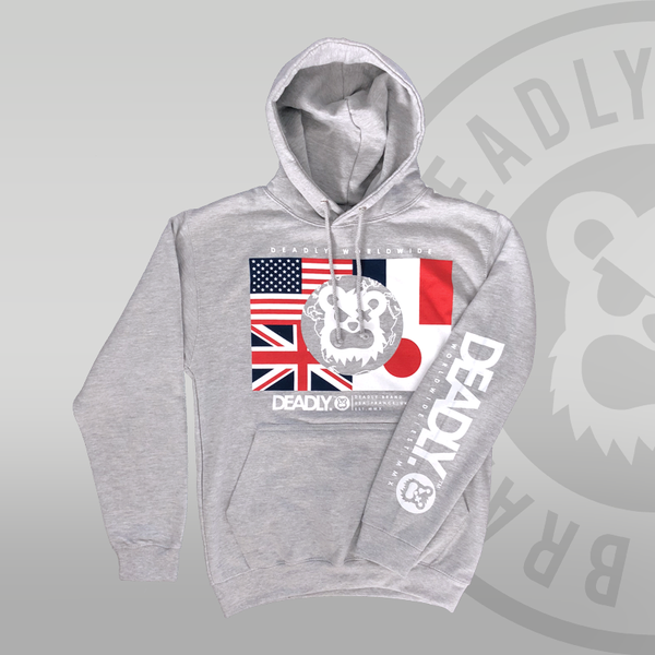 Deadly Worldwide Pullover Hoodie Heather Grey