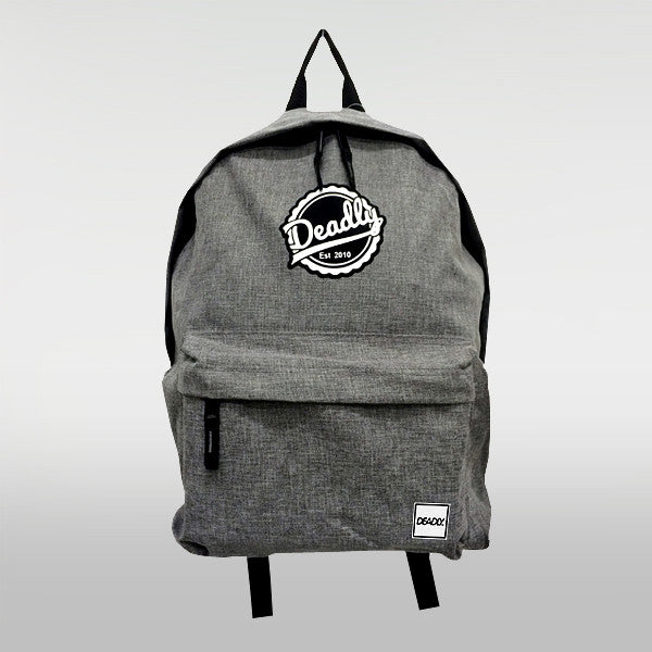 Deadly Clothing Brand Classic Fashion Backpack Grey