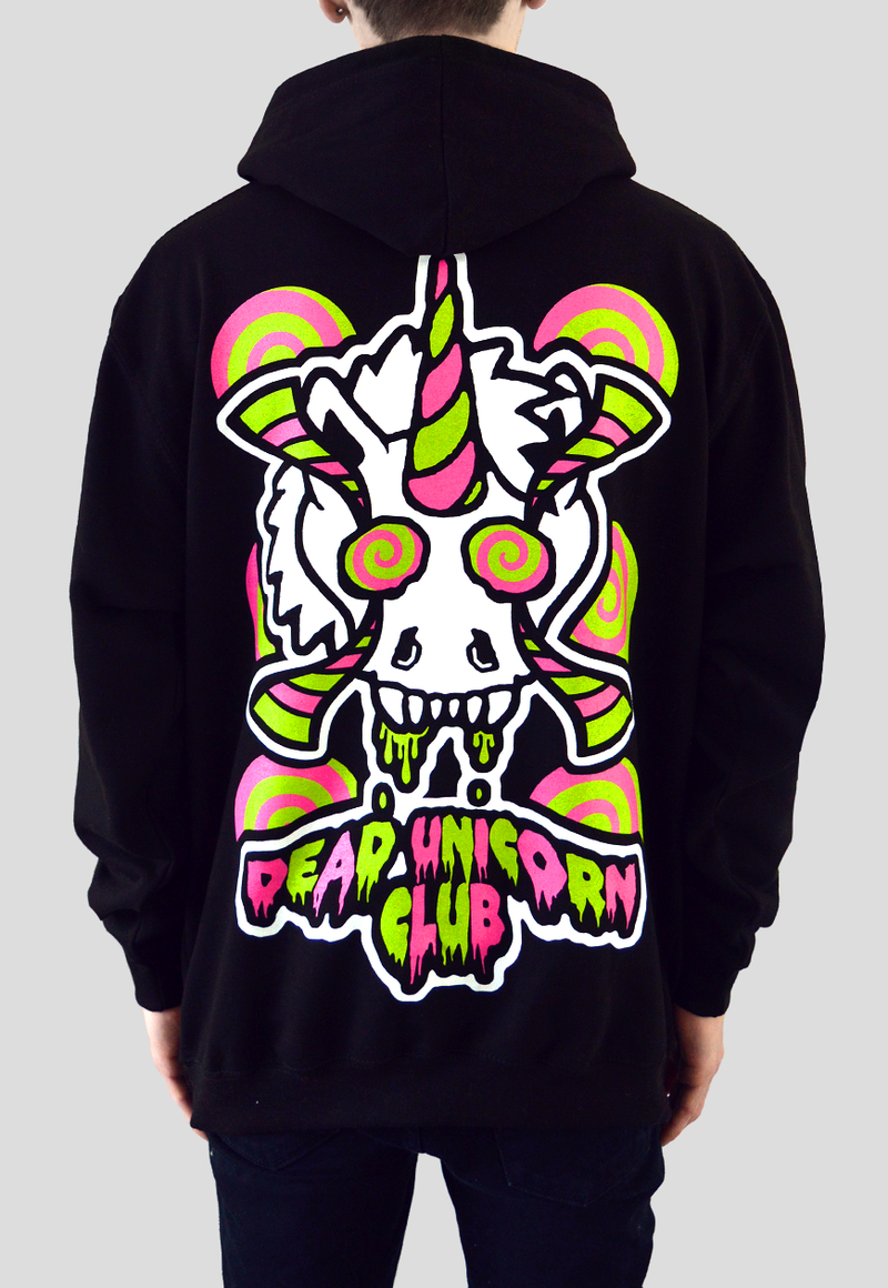 Dead Unicorn Club - Hypnosiscorn Pullover Hoodie - Oversize Back Print