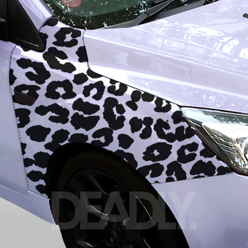 Deadly Leopard  Print Wing  / Fender Sticker Kit