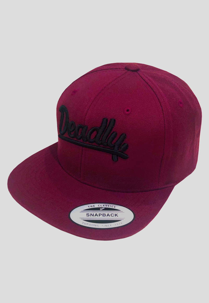Deadly. Maroon Snapback