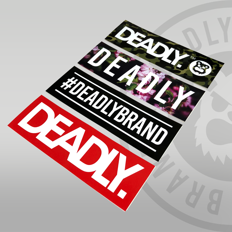 Deadly Block Sticker Pack floral camo