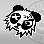 Deadly Panda Sticker
