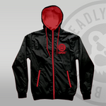 DEADLY™ Wind Breaker Black & Red