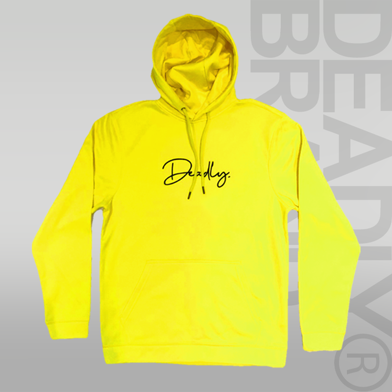 Deadly. Signature Hoodie Yellow