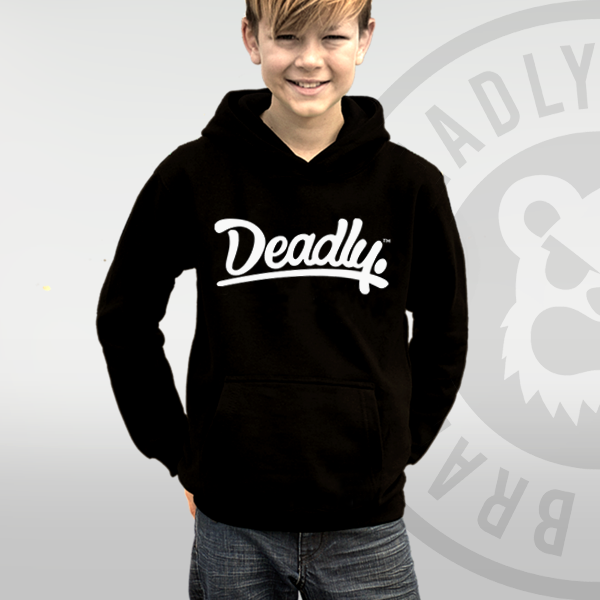 Deadly Brand Youth Children Kids clothing black hoodie