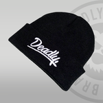 Deadly Script Cuffed Black Beanie