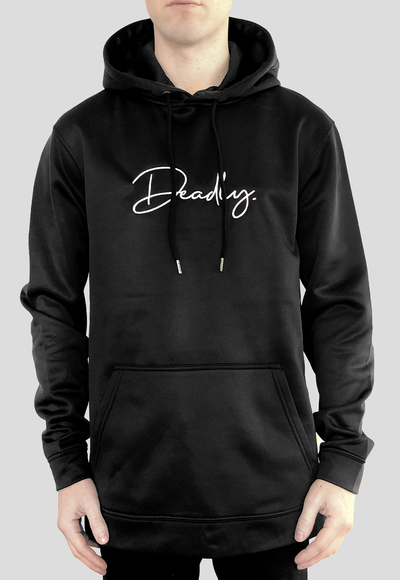 Deadly. Signature Hoodie Black