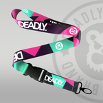 Deadly Brand Block Lanyard Pink Purple Mint Green