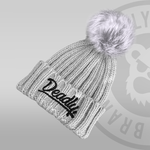 Deadly Chunky All Grey Pom Pom Beanie