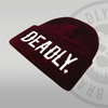 Deadly Cuffed Burgundy Beanie