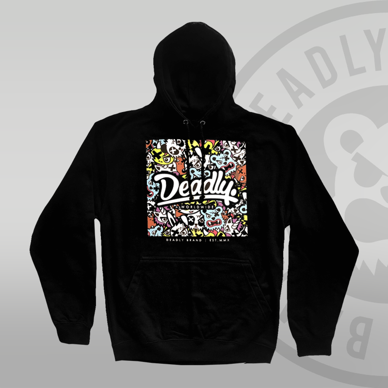 DEADLY. Character Pullover Hoodie - SMALL ONLY LEFT