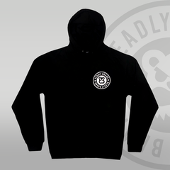 Deadly Brand Fade Pullover Hoodie front print circle