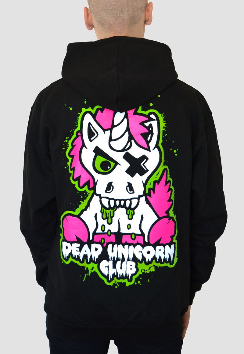 Dead Unicorn Club Zombie Pullover Hoodie oversized Back print