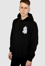 Dead Unicorn Club Zombie Pullover Black Hoodie front print