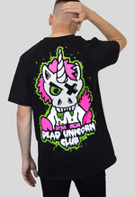 Dead Unicorn Club Zombie T-shirt oversized back print