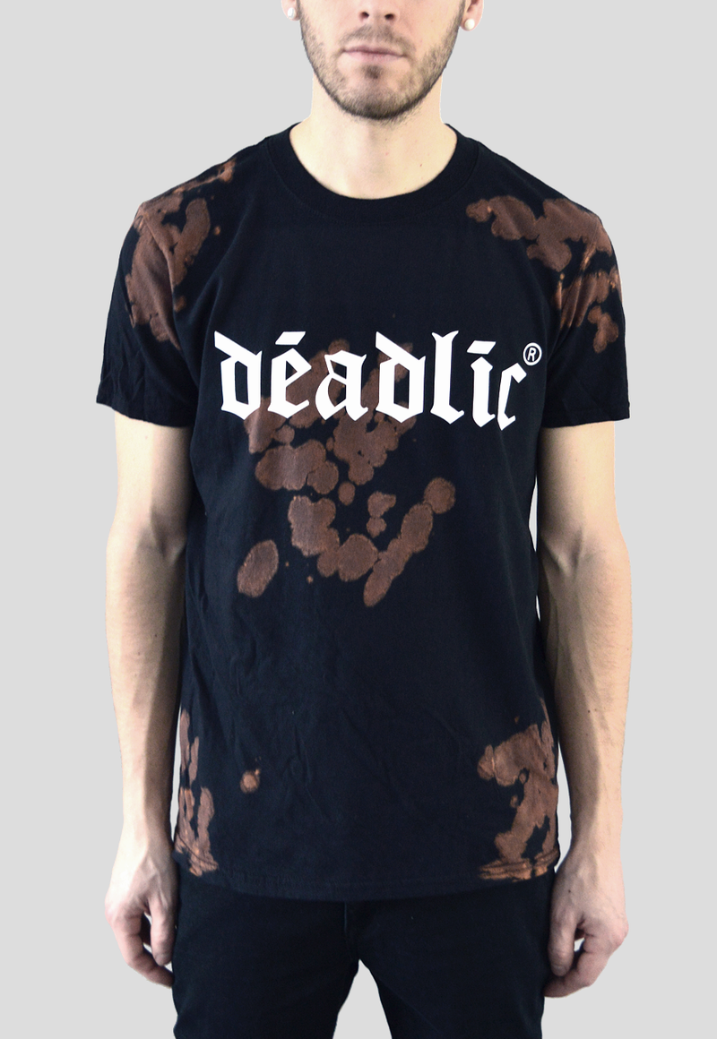 DEADLIC® Black Bleached T-shirt