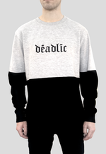 DEADLIC™ Sweat top jumper in black and heather grey block