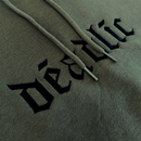 DEADLIC™ Hoodie 002 Olive green with black embroidery logo