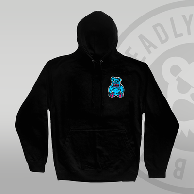 DEADLY. BEAR Pullover Hoodie front print in colour by deadly brand