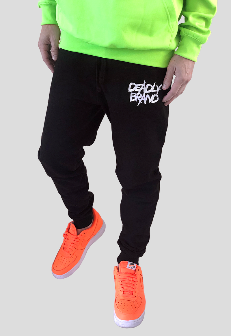 DEADLY BRAND® TRASHY BLACK JOGGERS
