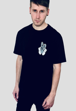 DEADLY. BUNNY T-shirt black front print