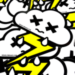 Deadly Weather Sticker Cloud, Rain and Lightening
