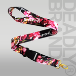 Deadly Brand Floral Lanyard