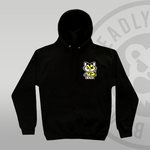 Deadly Fox Pullover Hoodie - yellow fox cat - front print