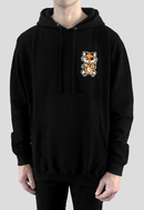 DEADLY. FOX Hoodie by DEADLY BRAND front left chest print orange and white