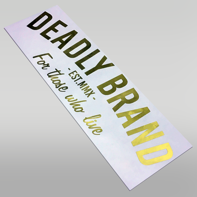Deadly Brand Rear Windscreen Sticker For Those Who Live Large
