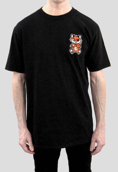 DEADLY. FOX T-shirt by DEADLY BRAND front left chest print orange and white