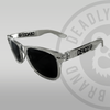 Deadly Sunglasses Clear with Black Lenses