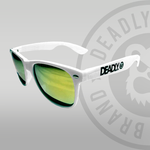 Deadly Sunglasses White with Gold Lenses