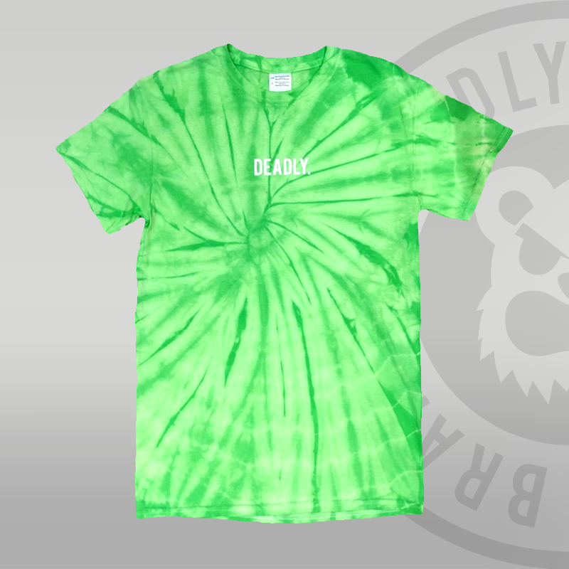 DEADLY. Tie-dye Green T-shirt