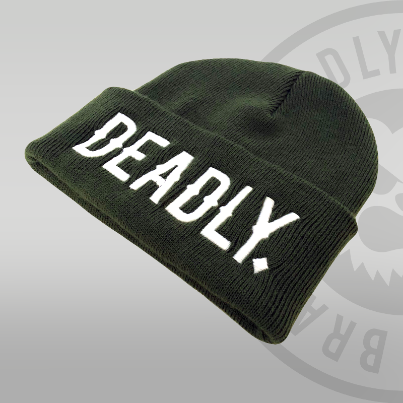 Deadly Cuffed green Beanie