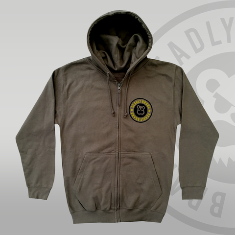 Deadly Brand Zip Up Grey Hoodie