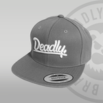 DEADLY. Grey Snapback