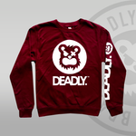 DEADLY™ Sweat Top Burgundy