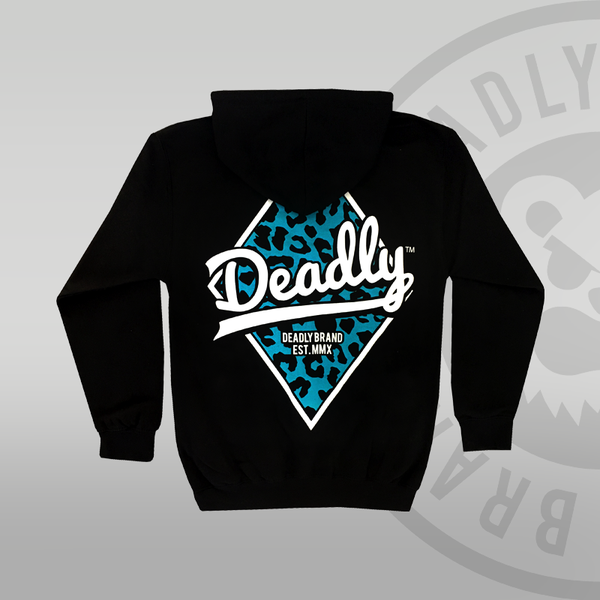 Deadly Zip Up Leopard Hoodie Back print