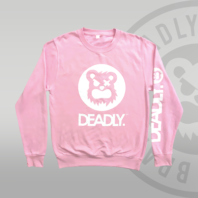 DEADLY™ Sweat Top Pink jumper deadly brand