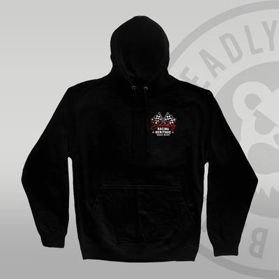 DEADLY. Racing Flag Pullover Hoodie front print