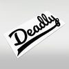 Deadly Classic Rear Window Sticker - Large 55cm