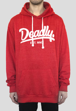 DEADLY. Heather Red Pullover Hoodie