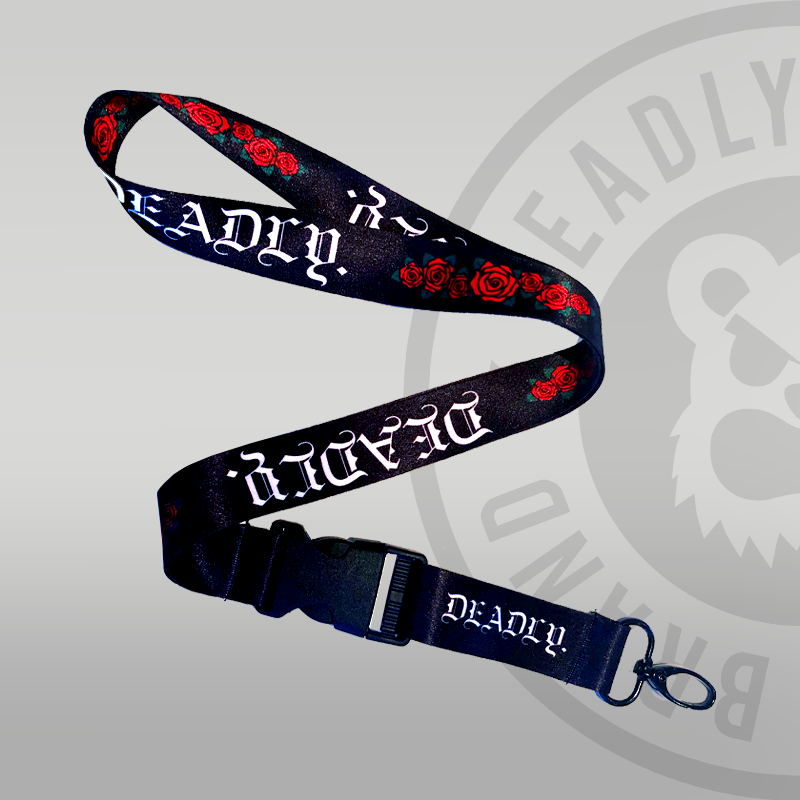 Deadly Traditional Rose Lanyard