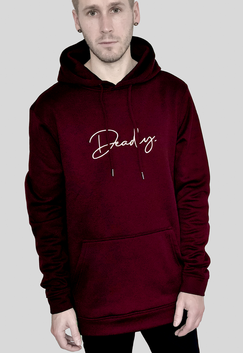 Deadly. Signature Hoodie Burgundy