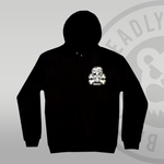 Deadly Skull & Bones Pullover Hoodie Front Left Chest Print