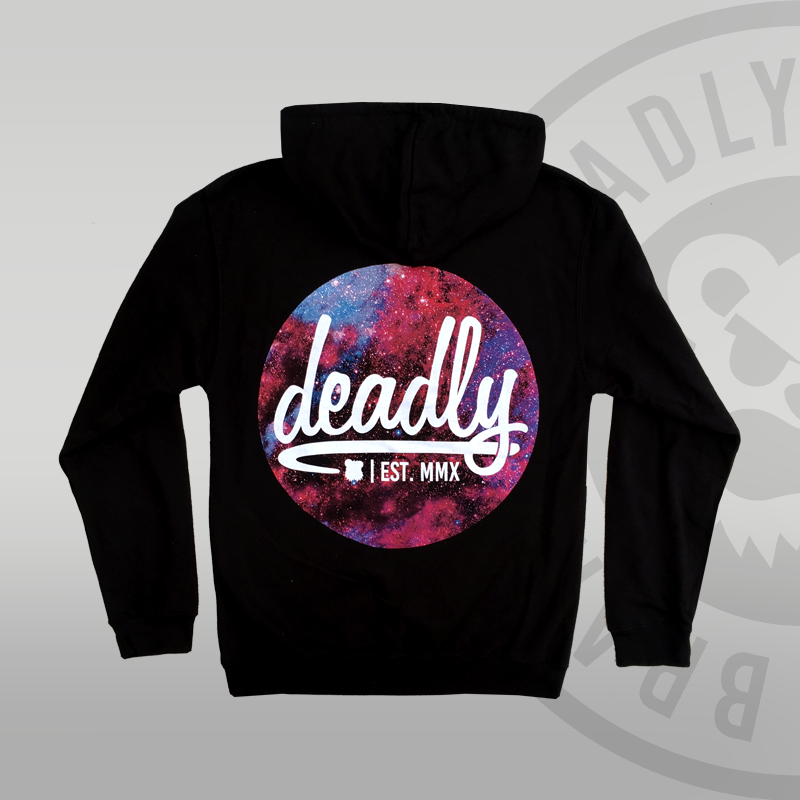 Deadly Galaxy Pullover Hoodie Space Back print